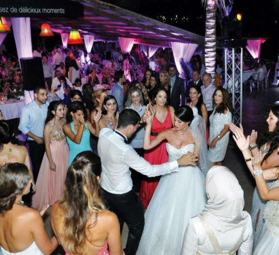 L'ouverture du bal par les nouveaux mariés.