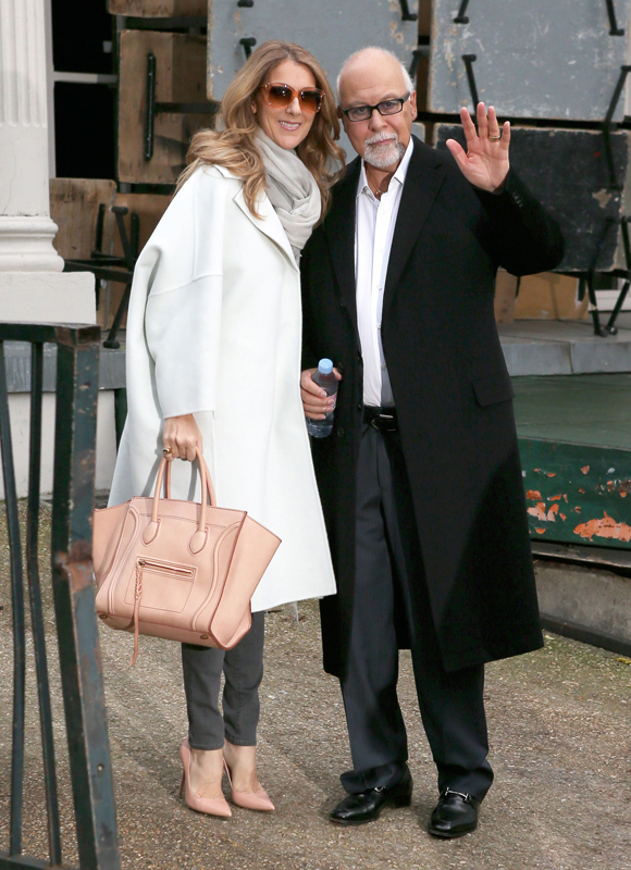 """Celine Dion Heads To """"Vivement Dimanche"""" Taping"""