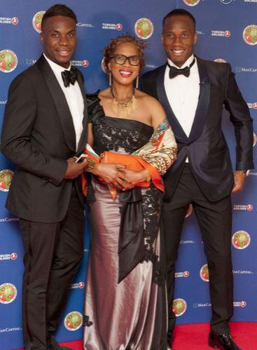 Freddy Drogba, Clotilde Drogba et Didier Drogba au gala de la fondation Didier Drogba