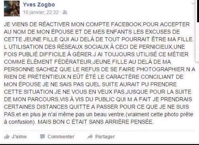 yves zogbo junior déclaration