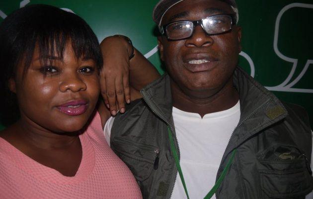 Avec sa collaboratrice Rachel Logoué de Radio CI