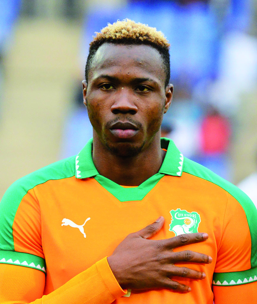 Mel William Togui of Ivory Coast during the 2018 CHAN football game between Ivory Coast and Zambia at the Grand stade Marrakech in Marrakech, Morocco on 18 January 2017 ©Samuel Shivambu/BackpagePix