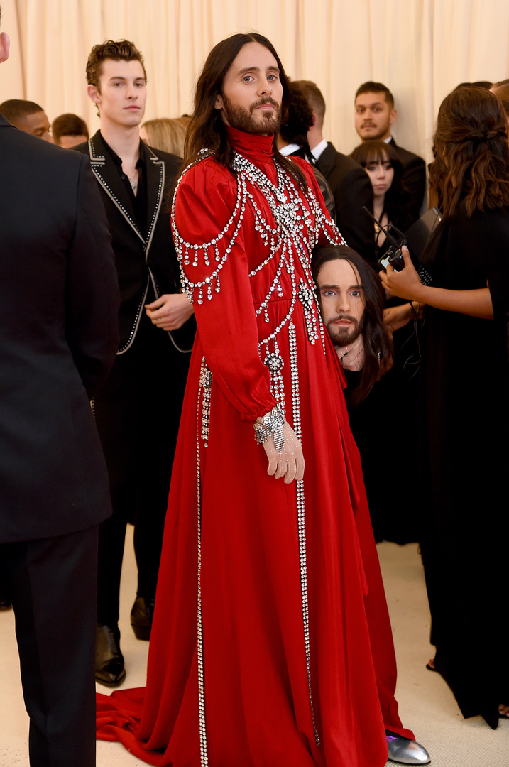 NEW YORK, NEW YORK - MAY 06: Jared Leto attends The 2019 Met Gala Celebrating Camp: Notes on Fashion at Metropolitan Museum of Art on May 06, 2019 in New York City. Jamie McCarthy/Getty Images/AFP