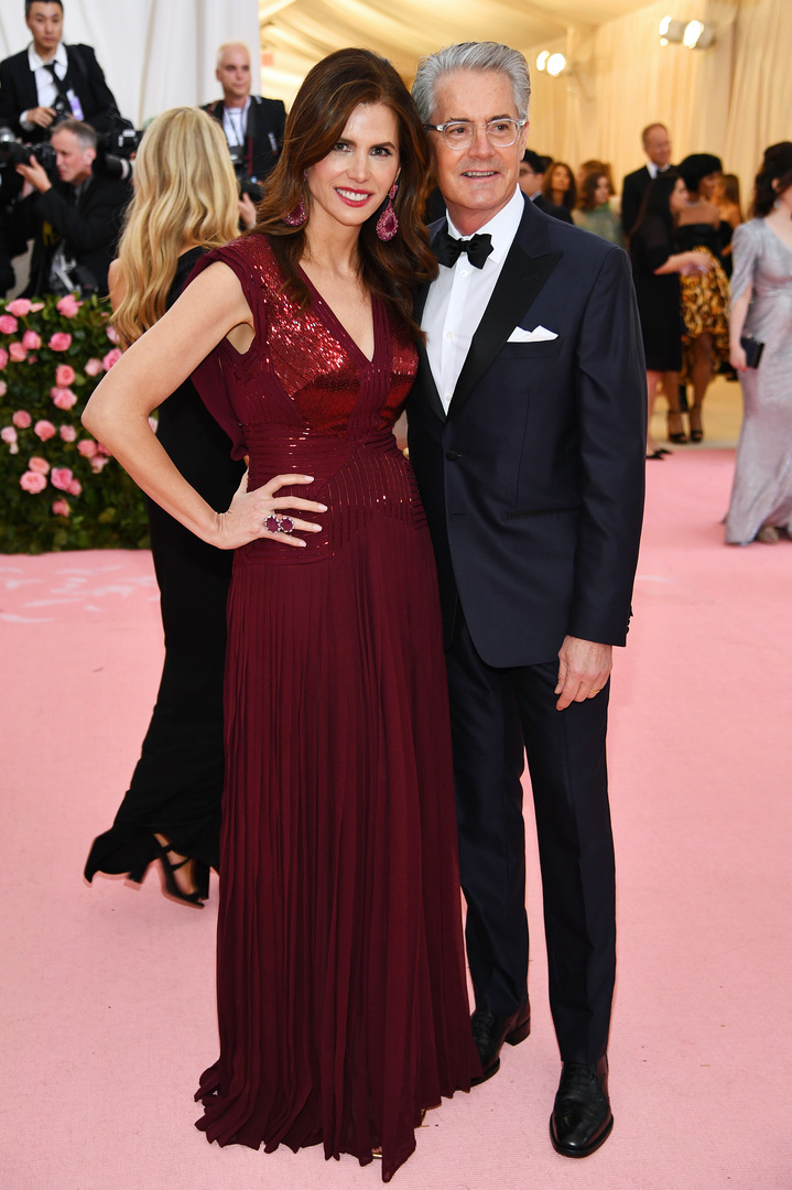 NEW YORK, NEW YORK - MAY 06: Desiree Gruber and Kyle MacLachlan attend The 2019 Met Gala Celebrating Camp: Notes on Fashion at Metropolitan Museum of Art on May 06, 2019 in New York City. Dimitrios Kambouris/Getty Images for The Met Museum/Vogue/AFP