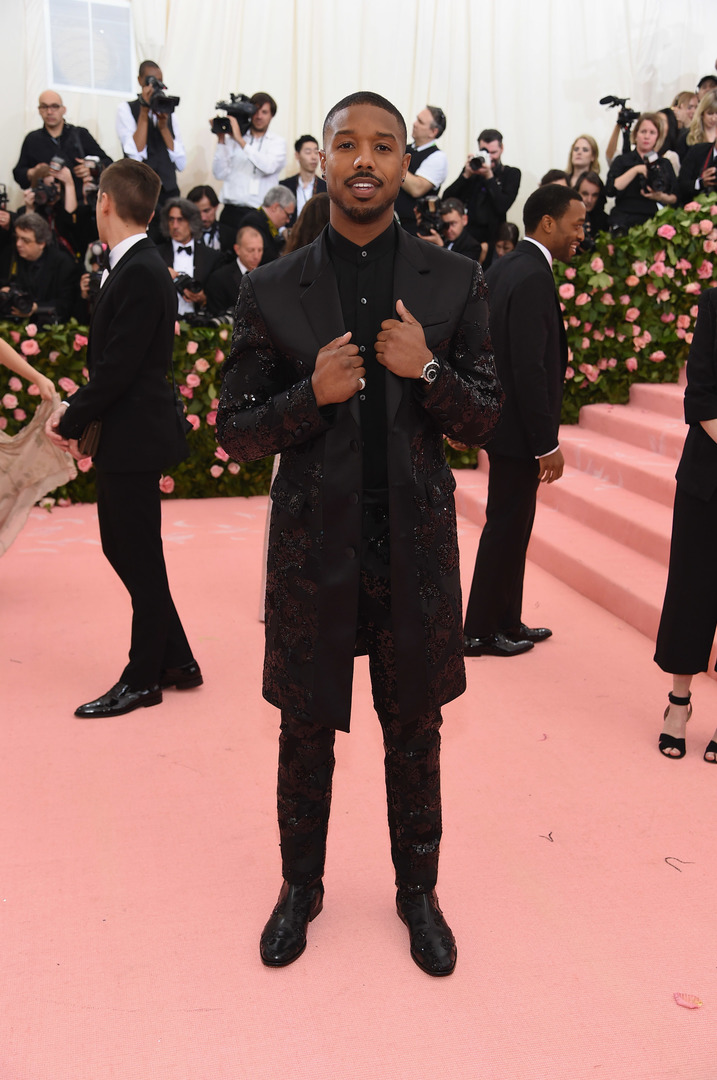 NEW YORK, NEW YORK - MAY 06: Michael B. Jordan attends The 2019 Met Gala Celebrating Camp: Notes on Fashion at Metropolitan Museum of Art on May 06, 2019 in New York City. Jamie McCarthy/Getty Images/AFP
