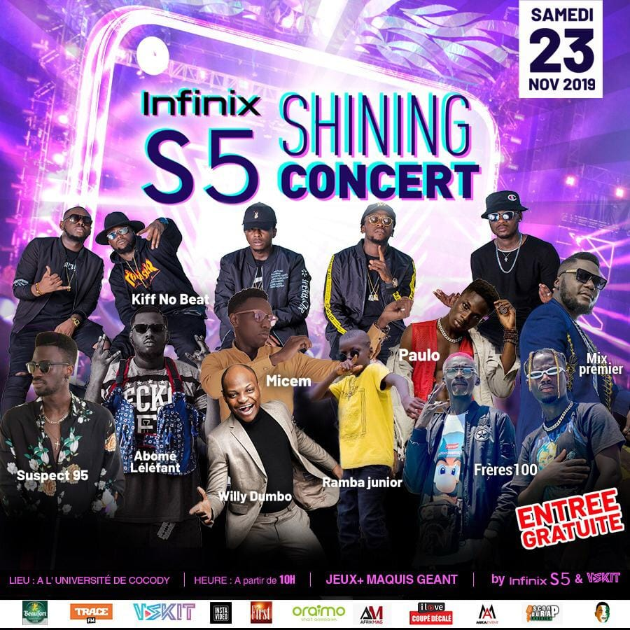 infinix s5 shining concert