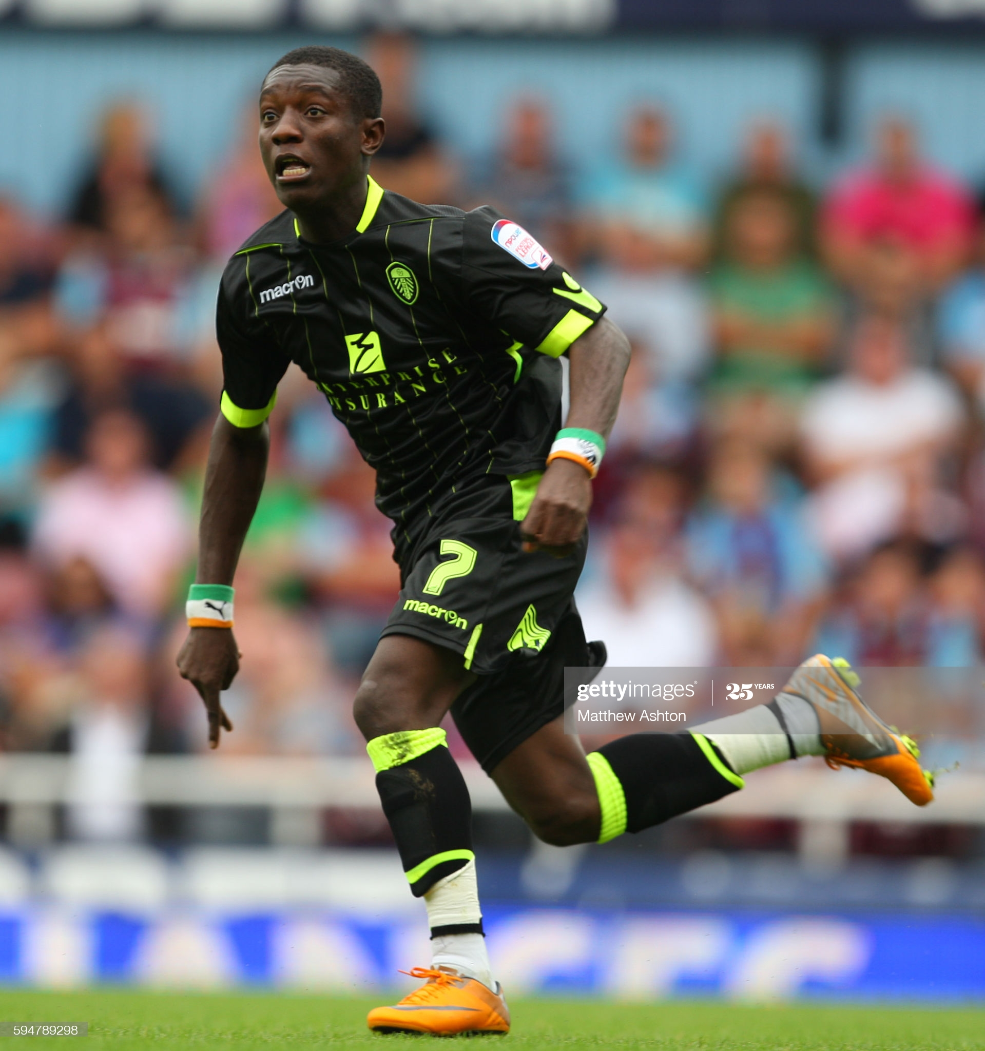 Max Gradel of Leeds United (Photo by Catherine Ivill/AMA/Corbis via Getty Images)
