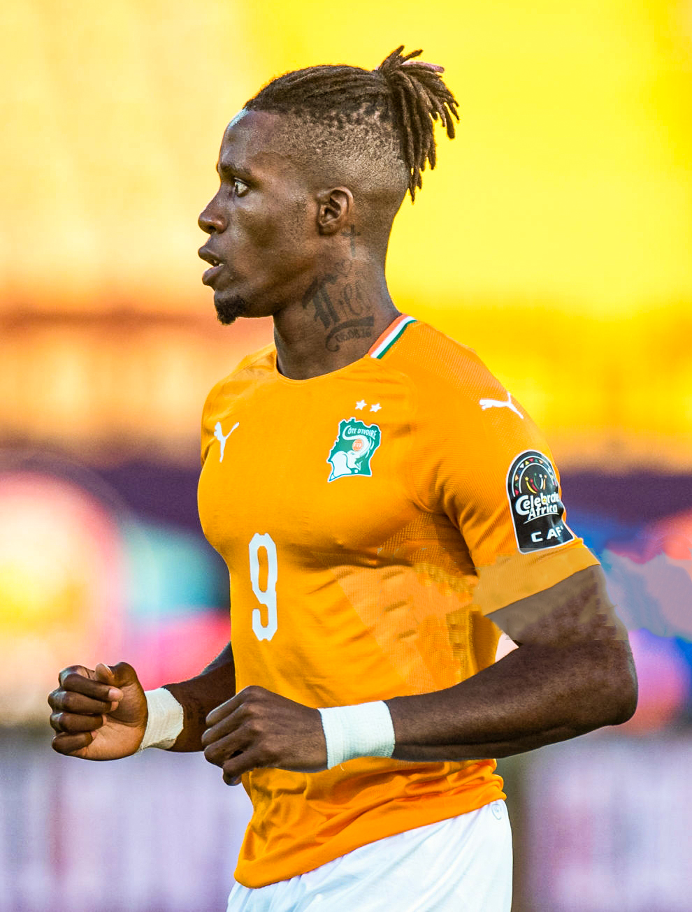 CAIRO, EGYPT - JUNE 24: Wilfried Zaha of Cote d'Ivoire looks on during the 2019 Africa Cup of Nations Group D match between Cote d'Ivoire and South Africa at Al-Salam Stadium on June 24, 2019 in Cairo, Egypt. (Photo by Sebastian Frej/MB Media/Getty Images)