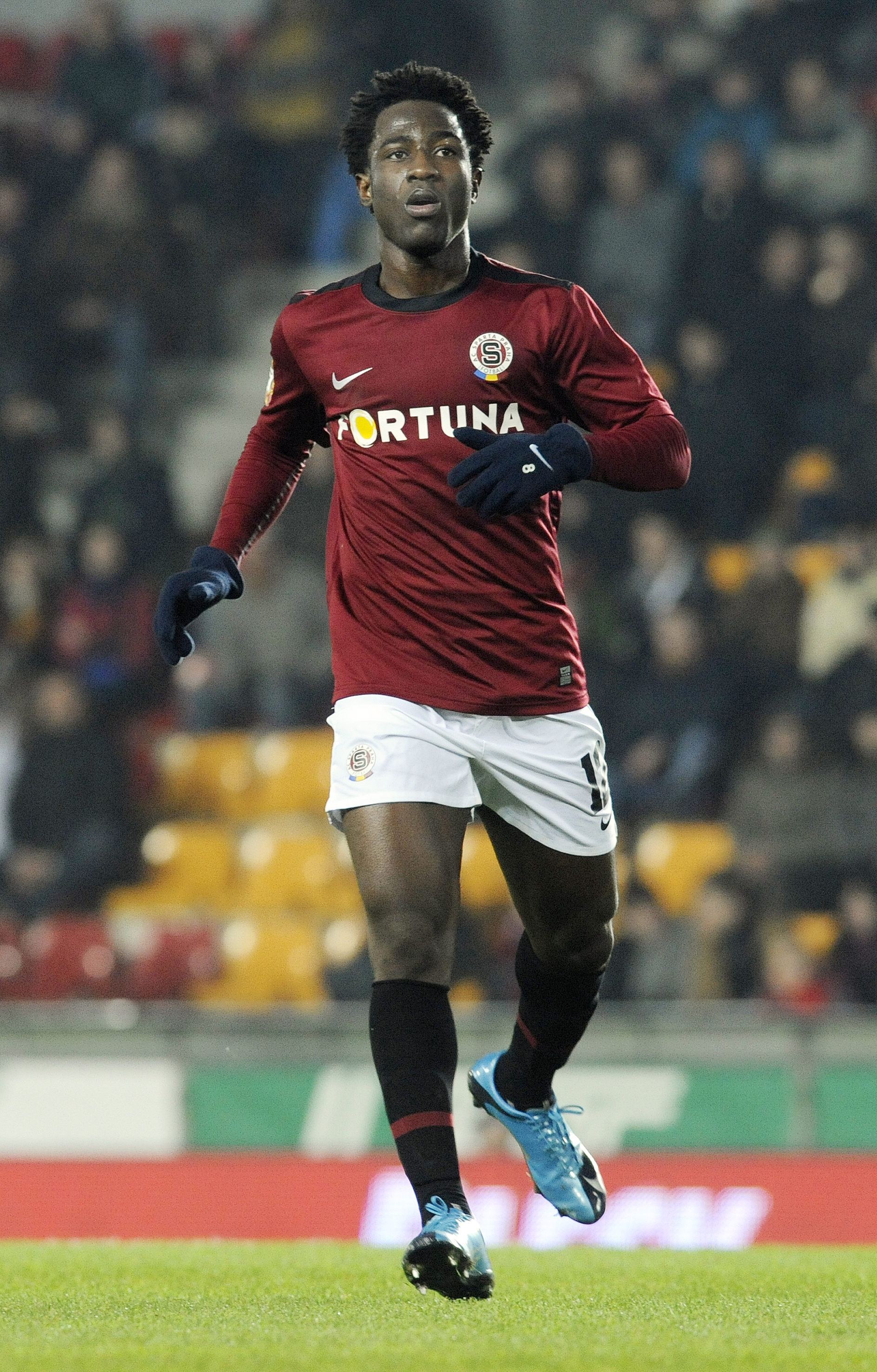 PRAGUE, CZECH REPUBLIC - OCTOBER 31: Bony Wilfried of AC Sparta Praha during the Gambrinus Liga match between AC Sparta Praha and FC Banik Ostrava held on October 31, 2009 at the GENERALI Arena in Prague, Czech Republic. (Photo by Michal Cizek/EuroFootball/Getty Images)