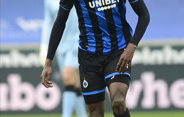 BRUGGE, BELGIUM - JANUARY 31 : Odilon Kossounou defender of Club Brugge in action during the Jupiler Pro League match between Club Brugge and Standard de Liege on January 31, 2021 in Brugge, Belgium, 31/01/2021 ( Photo by Peter De Voecht / Photonews