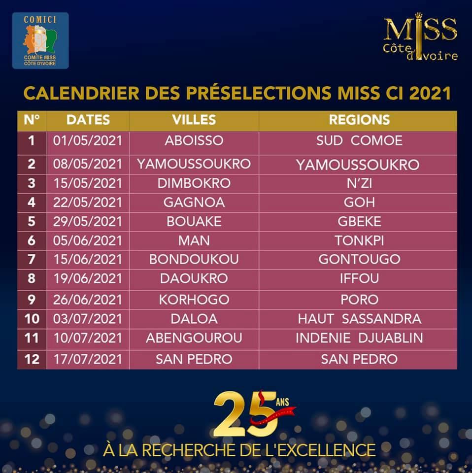 calendrier miss ci 2021