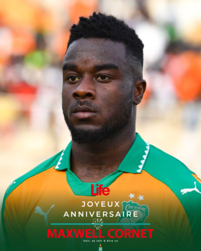 Ivory Coast's national football team player Maxwel Cornet stands at the 'Stade de la Paix' in Bouake on June 10, 2017 during the 2019 African Cup of Nations qualifier football match between Ivory Coast and Guinea.  / AFP PHOTO / ISSOUF SANOGO        (Photo credit should read ISSOUF SANOGO/AFP via Getty Images)